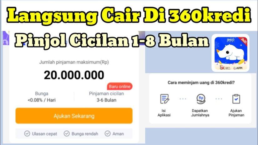 Cara Daftar Dan Pinjam Uang Di 360Kredi | Pinjaman Online OJK Tenor Cicilan Bulanan Cuma KTP