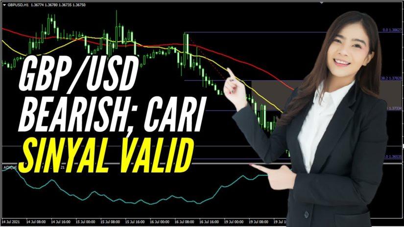 🔴 LIVE: Analisa Forex Hari Ini 20 Juli 2021 GBP-USD Bearish; Cari Sinyal Valid