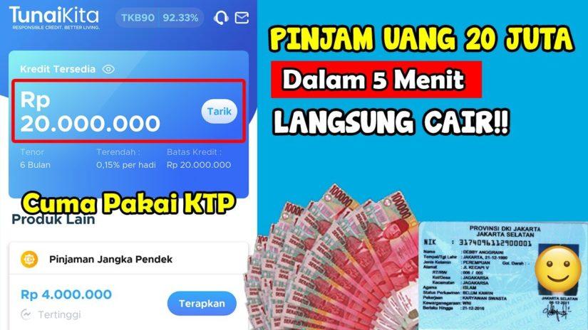 Pinjaman Online Langsung Cair Tanpa Jaminan Modal KTP | pinjam uang bunga rendah tempo panjang