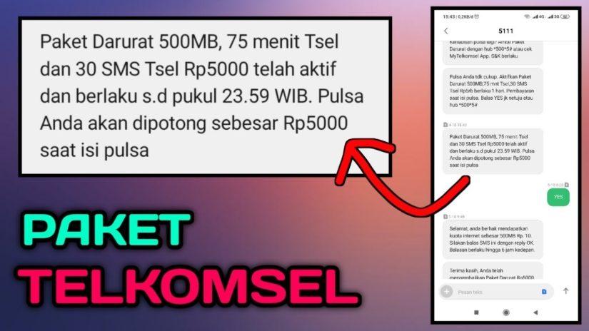 Cara Aktifkan Paket Darurat Telkomsel 500MB